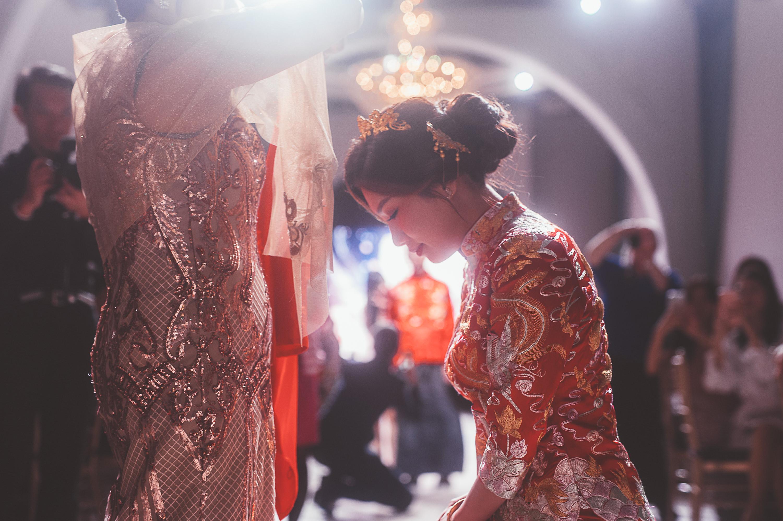 龍鳳掛,港式婚禮,西式證婚